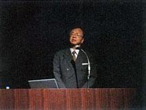 河田所長(京都大学防災研究所)による講演