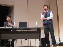 分科会1「阪神・淡路大震災の被災体験などを通して防災教育を考える」(諏訪先生、浅堀先生)