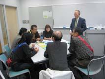 分科会2「ゲームで楽しく防災教育を考える」(細川事務局長(兼)調査研究部長)