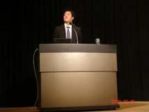 奥課長補佐(文部科学省研究開発局地震・防災研究課)による開会の挨拶